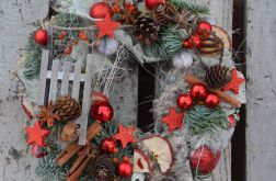 wianek Bożonarodzeniowy z kory brzozowej