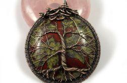 Drzewko Szczęścia wisior z heliotropem oval