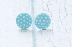 Błękitne koła w kropki - sztyfty