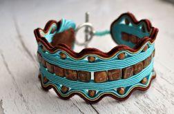 Bransoletka turkusowo-brązowa 2
