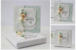 Kartka z pudełkiem zestaw ślubny B5