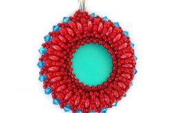 Wisiorek czerwono-niebieski