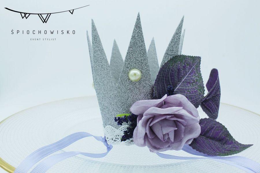Mini Korona z fioletem