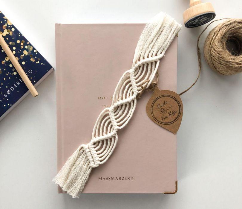 Zakładka do książki handmade z frędzlami - poziom 2