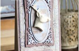 Kartka z jelonkiem brązowo-beżowa Boże N.