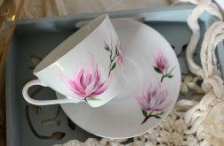 """Filiżanka 250 ml ze spodkiem """"Różowa magnolia"""""""