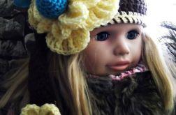 Szydełkowa czapka dla dziewczynki