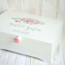 Kufer na życzenia ślubne RUSTIC FLOWERS