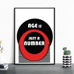 Plakat Age is just a number -