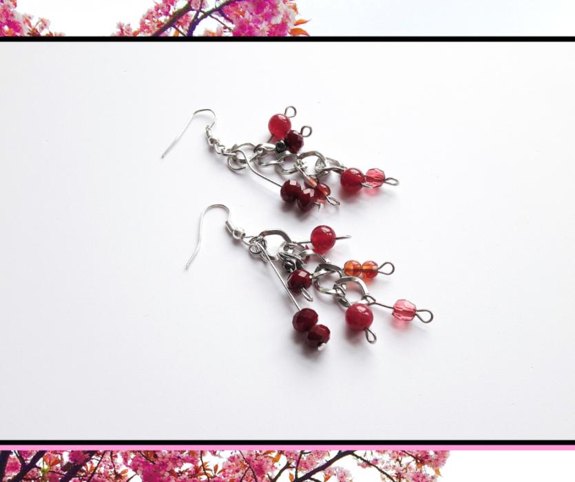 Kolczyki grona wiśniowe -
