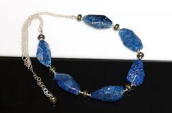 Lapis Lazuli z pirytem - naszyjnik