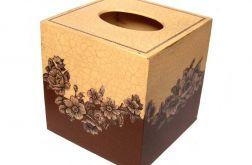ELEGANCJA W BRĄZACH - pudełko na chusteczki