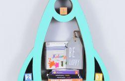 Półka na książki zabawki RAKIETA | mięta