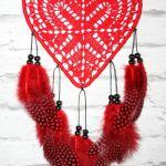 Łapacz snów- serce