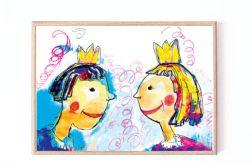 bajkowy obrazek dla dzieci oprawiony 21x30