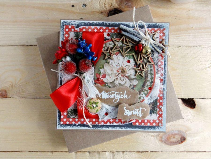 Kartka świąteczna w pudełku VINTAGE #1