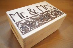 skrzynka Mr&Mrs na ślub i rocznicę ślubu