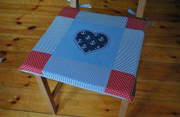 Poduszki na krzesła,siedziska- marine 4szt