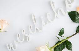 """Napis na ślub i wesele """"weselicho"""""""