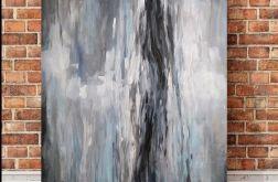 Abstrakcja w szarościach -obraz akrylowy