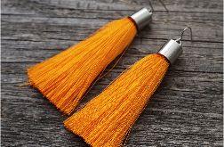 """kolczyki chwosty, kolor """"pomarańczowy"""""""