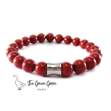 Czerwony jaspis - bransoletka