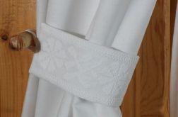 Paski do zasłon z haftem krzyżykowym