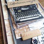 Męska z maszyną do pisania - Detal2