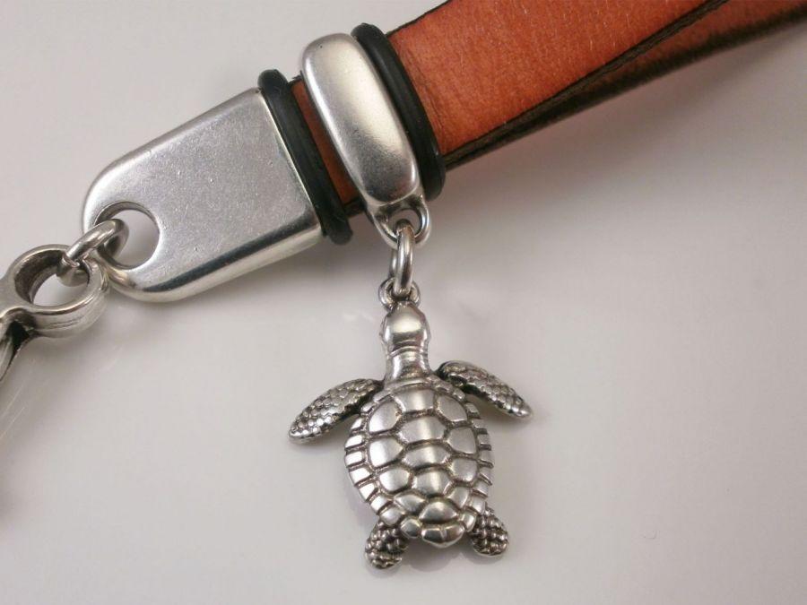 Brelok mini smycz żółw