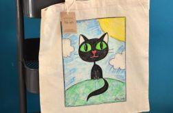 Czarny kot - ekotorba