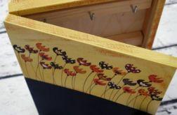 pudełko na klucze z tablicą tulipany