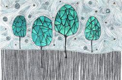 Ażurowe drzewko