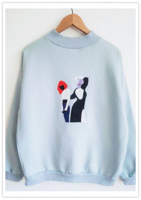 Ręcznie malowana bluza Nostalgy - null