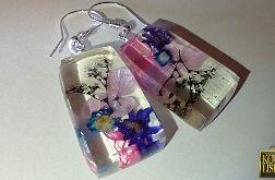 Mydełko II - kolczyki z żywicy i kwiatów