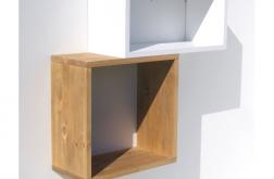 Półka ścienna kwadraty nowość drewno