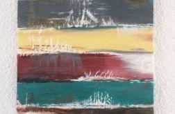 Obraz abstrakcja paski 50x80