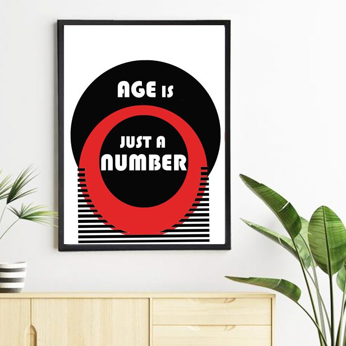 Plakat Age is just a number