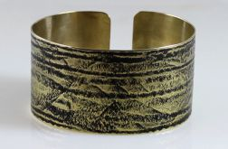 Mosiężna bransoleta - smugi 2