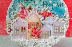 Kartka - ozdoba świąteczna bombka