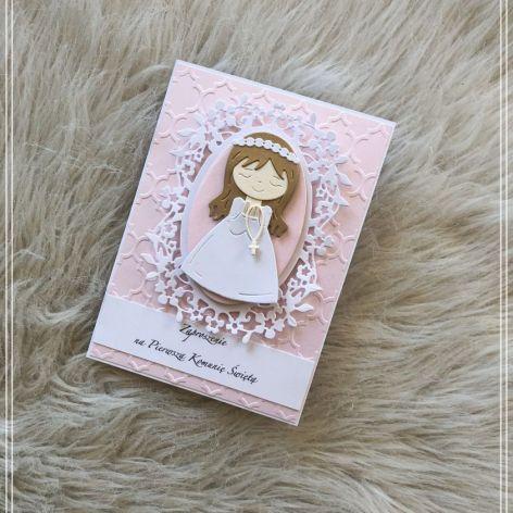 Zaproszenie komunijne dla dziewczynki 01