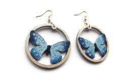Kolczyki malowane, Motyle w błękicie