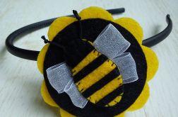 Opaska do włosów z filcu Pszczółka
