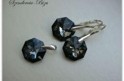 Komplet Swarovski Crystal Octagon Silver Night