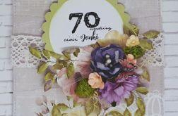 Karnet...Kwiatowo...urodzinowo