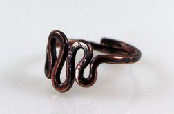 Zawijasy - miedziany pierścionek 2109-08