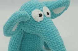 Słoń szczęściarz - niebieski
