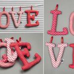 LOVE LITEROWE szyte literki
