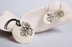 Komplet ceramicznej biżuterii - natura