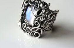 Pierścień z kamieniem księżycowym kl.AAA
