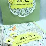 Kartka ślubna #1 - Kartka ślubna z ozdobną kopertą